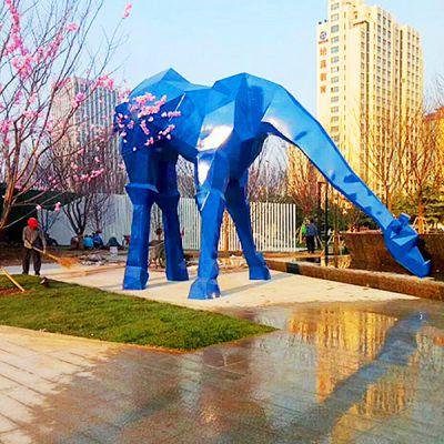 大型玻璃钢鹿_抽象动物雕塑景观