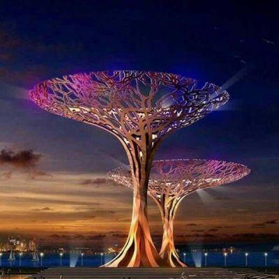 不锈钢景观树