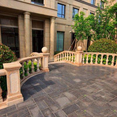 大理石栏杆栏板 批量定制天然汉白玉石雕围栏