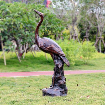 铜雕仙鹤_动物公园摆件