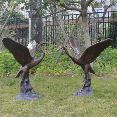 铸铜铜雕仙鹤雕塑