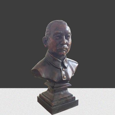 孙中山半身铜雕像