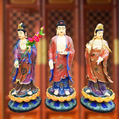 西方三圣雕塑_寺庙祭祀佛像厂家定制