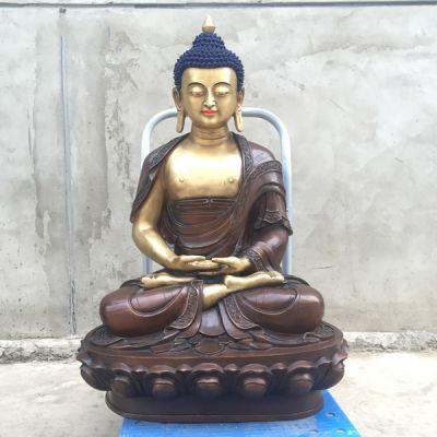 释迦牟尼铜佛像_大型铜雕供奉如来塑像