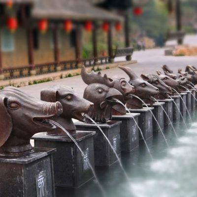 12兽首喷泉_公园园林创意喷泉雕塑