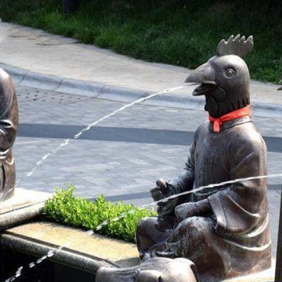 十二生肖创意喷泉