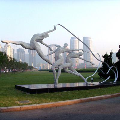 《舞彩带》体育公园运动人物系列雕塑