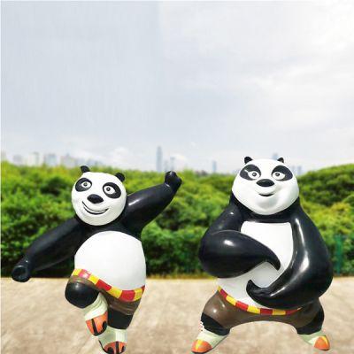 功夫熊猫_户外园林景观卡通人物雕塑