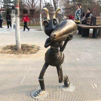 蚂蚁铜雕_城市园林景观摆件卡通蚂蚁雕塑