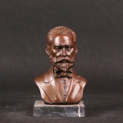 西方人物半身胸像_厂家按图定制头像雕塑