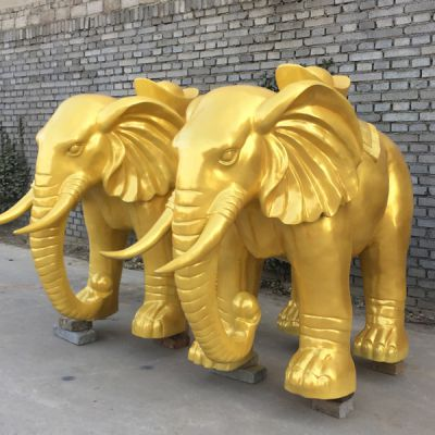 纯铜大象雕塑_公司开业摆件工艺品礼品厂家直销