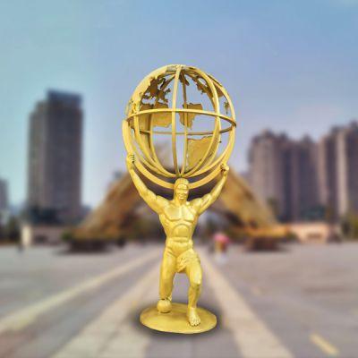 手托地球欧式人物_大型托举者铜雕摆件景观雕塑 (1)
