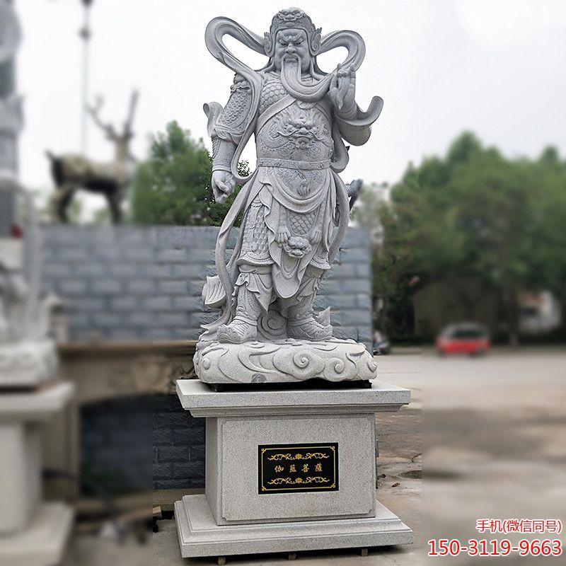 伽蓝菩萨青石雕像