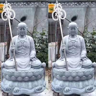青石地藏王菩萨石雕像