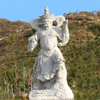 四大天王青石石雕像