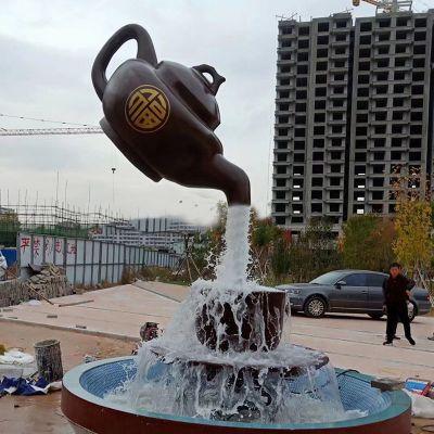 天壶悬空流水雕塑