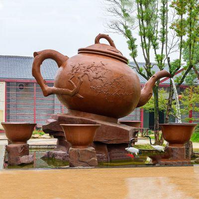 天壶流水雕塑