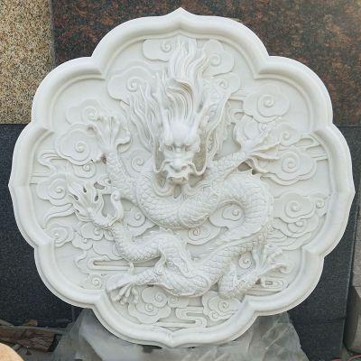 汉白玉浮雕龙头