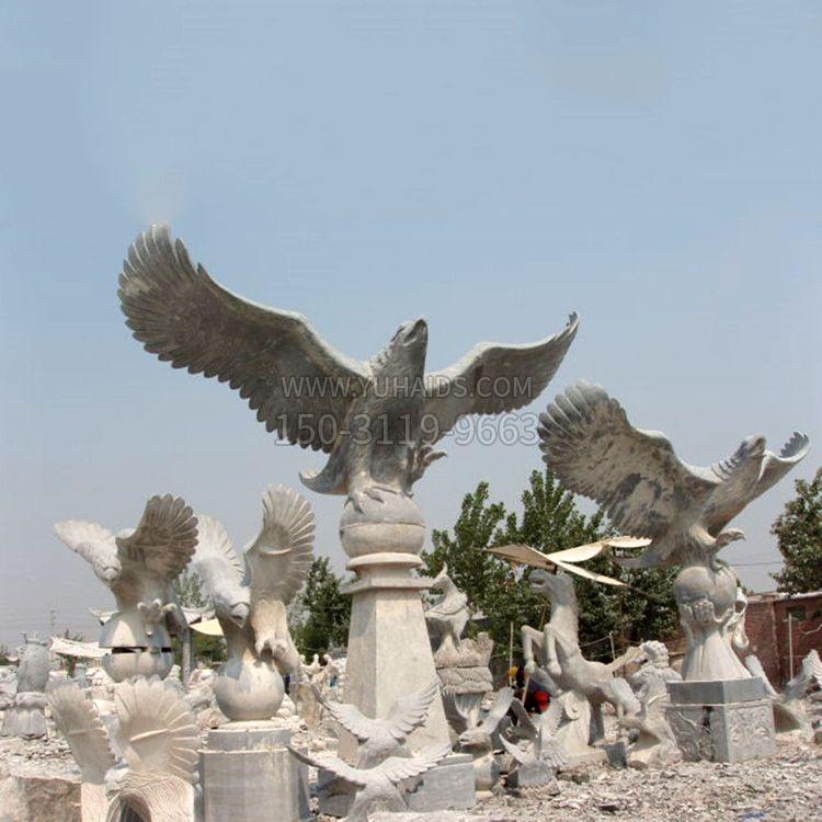 大鹏展翅老鹰石雕景观雕塑