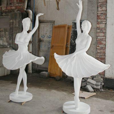 玻璃钢芭蕾女孩形体雕塑