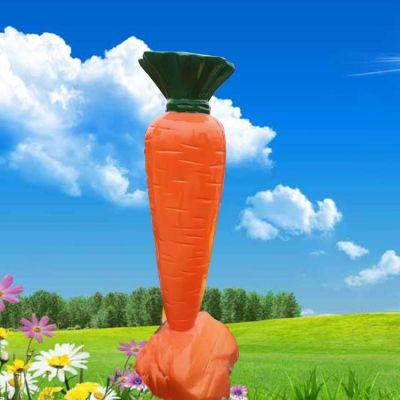 玻璃钢卡通胡萝卜雕塑