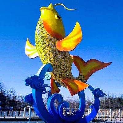 不锈钢鲤鱼景观雕塑