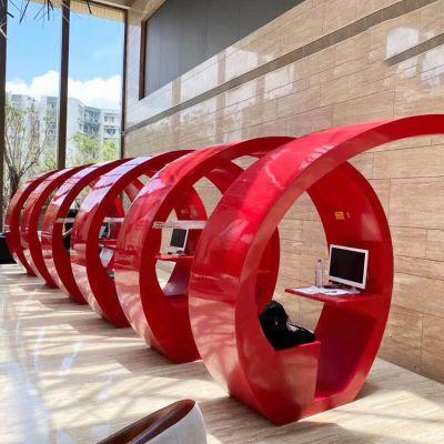玻璃钢抽象凳子雕塑