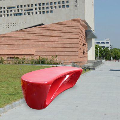 红色抽象玻璃钢凳子