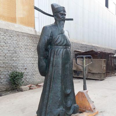 铸铜历史人物包公雕像