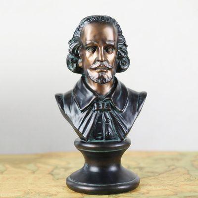 玻璃钢莎士比亚头像雕塑