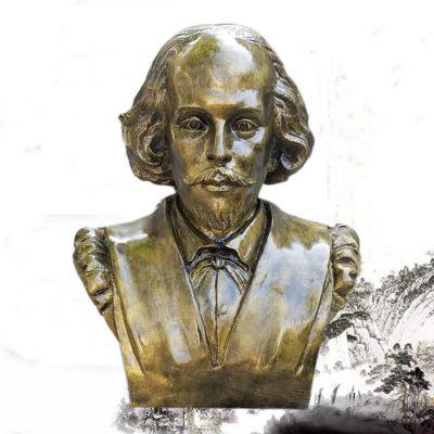 莎士比亚仿铜胸像