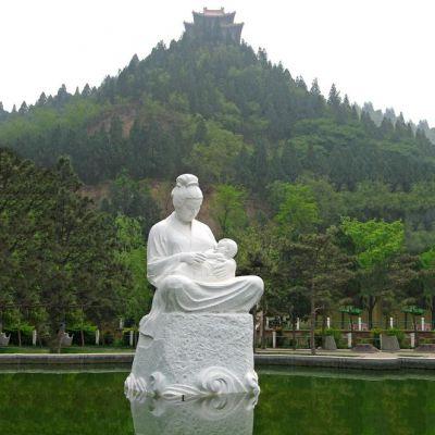 《哺育》人物石雕塑