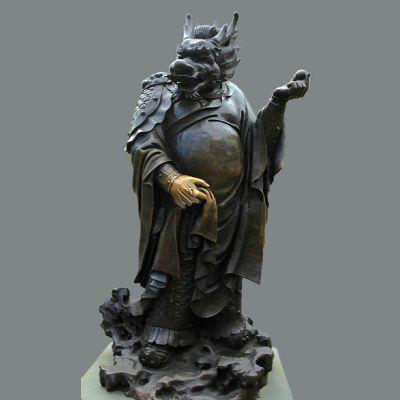 兽首人身12生肖铜雕像-辰龙