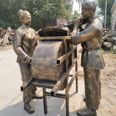 风车-农耕雕塑
