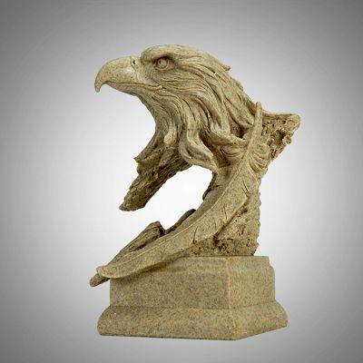 石雕老鹰头部雕塑
