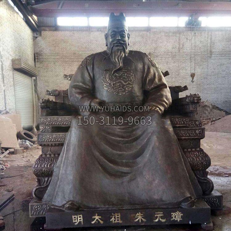 铸铜刘子通胸像雕塑