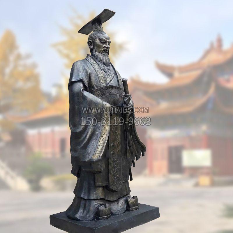 铸铜明太祖雕塑