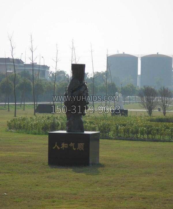 铸铜握手诚信雕塑-企业广场文化景观摆件