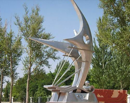 学校不锈钢希望之星抽象雕塑