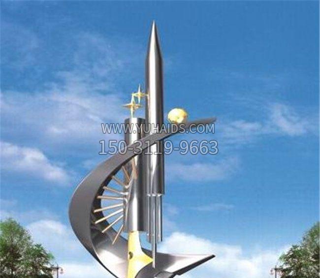 校园不锈钢科技之星雕塑