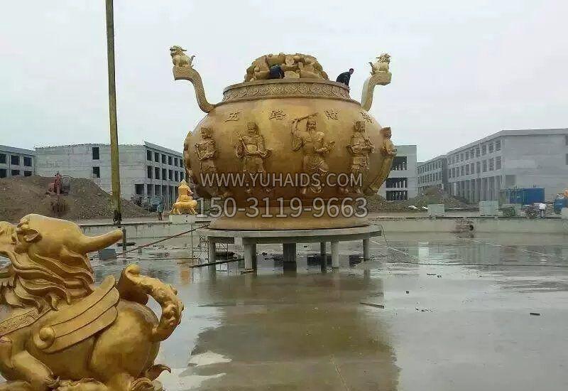 城市不锈钢中国结景观雕塑