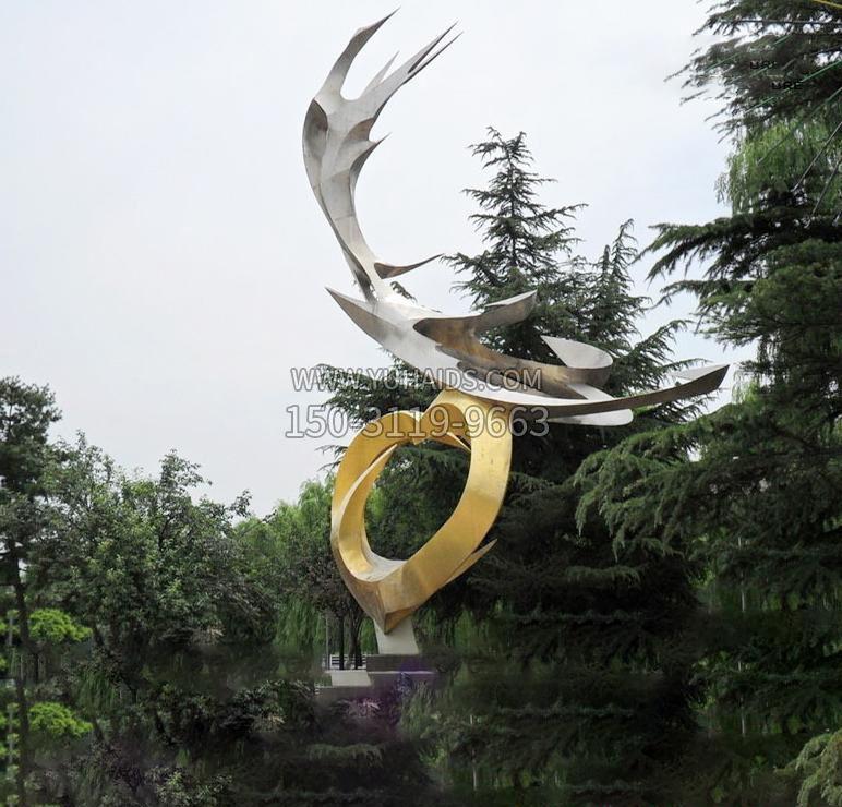 不锈钢彩虹飞鸽广场景观雕塑