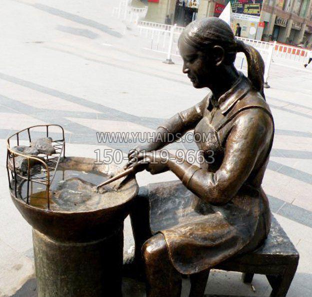 车夫人物公园景观铜雕摆件