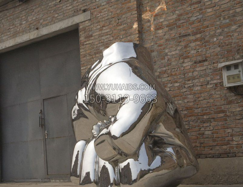 公园不锈钢创意鱼群雕塑