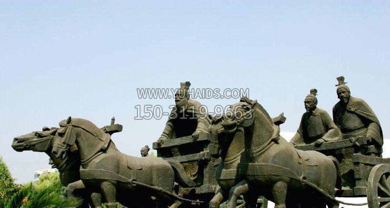 管仲古代人物胸像铜雕