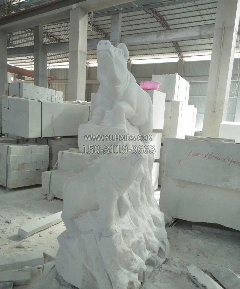 汉白玉五门牌坊石雕