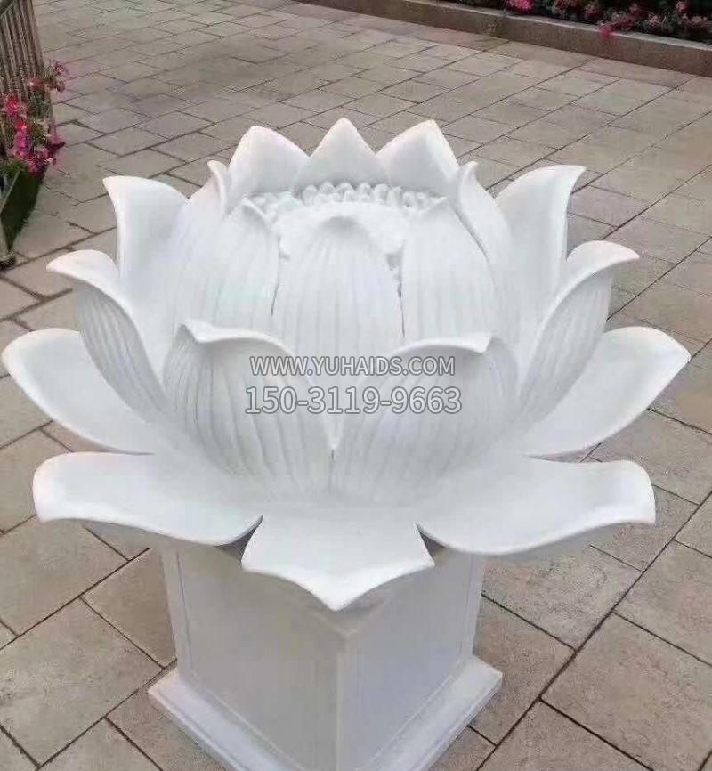汉白玉喷水天鹅石雕