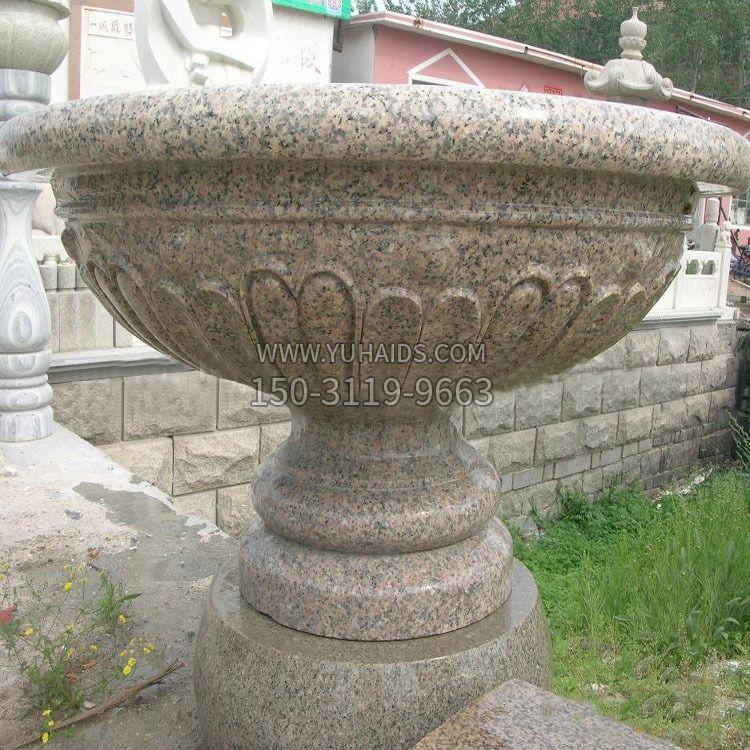 喷水鲤鱼花岗岩石雕-公园园林水景喷泉雕塑