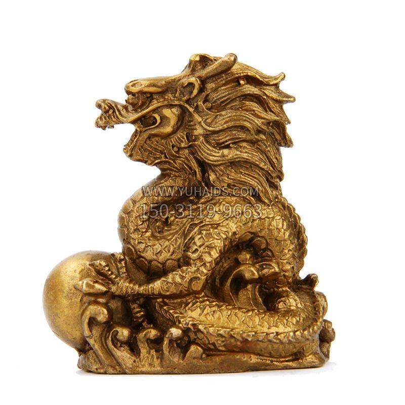 生肖兔-铸铜鎏金动物雕塑摆件
