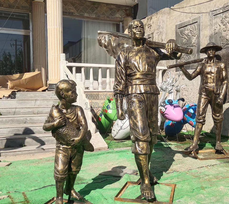 天鹅动物铜雕